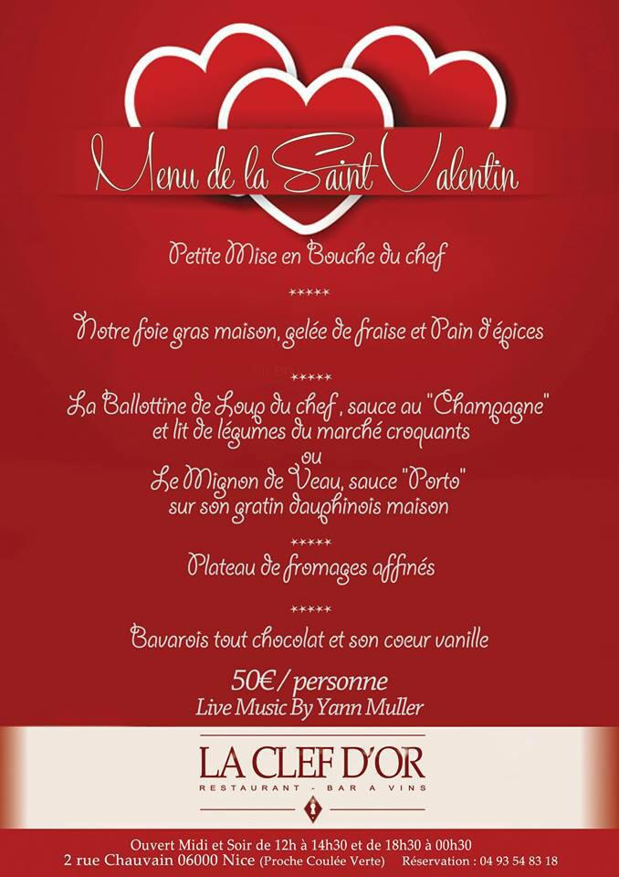 Saint valentin 6 id es resto nice et alentours actualit s bons plans shopping sorties - Idee repas saint valentin ...