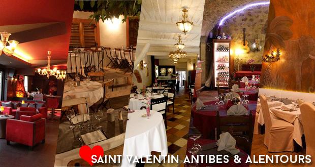 Saint-Valentin : 7 idées resto Antibes et alentours