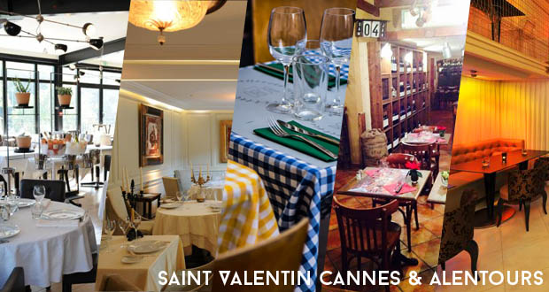 Saint-Valentin: 5 idées resto Cannes et alentours