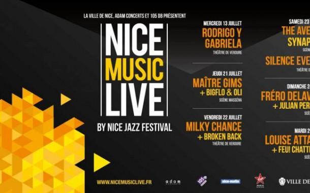 [Annulé]Nice Music Live: l'édition de l'été 2016