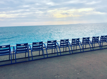 chaises bleu nice