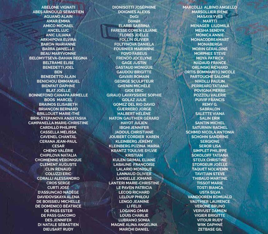 liste 150 artistes palm beach