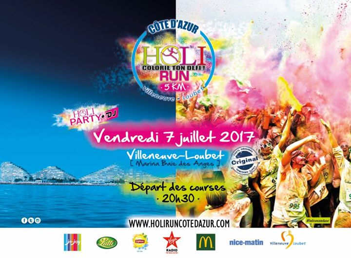 Holi run villeneuve loubet