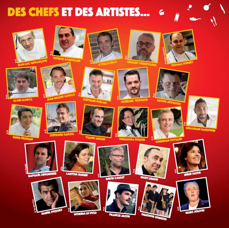chef et artistes fete gourmande