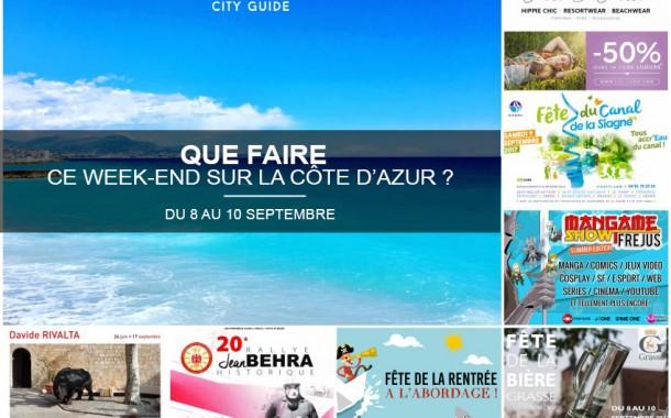 Que faire sur la Côte d'Azur ce week-end ? du 8 au 10 septembre 2017