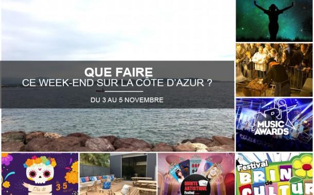 Que faire sur la Côte d'Azur ce week-end du 3 au 5 novembre 2017