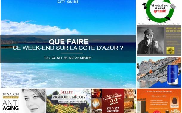Que faire sur la Côte d'Azur ce week-end du 24 au 26 novembre 2017