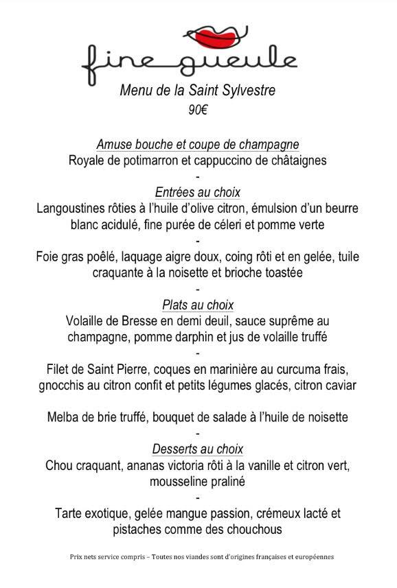 menu 31 dec fine gueule