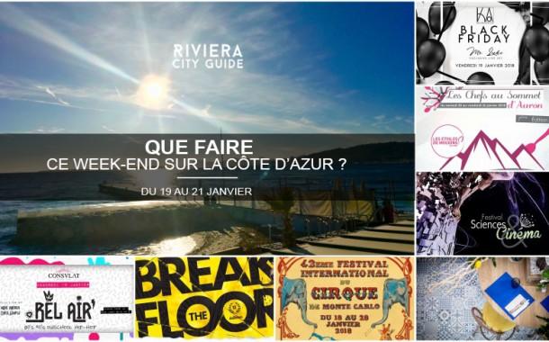 Que faire sur la Côte d'Azur ce week-end ? Du 19 au 21 janvier 2018