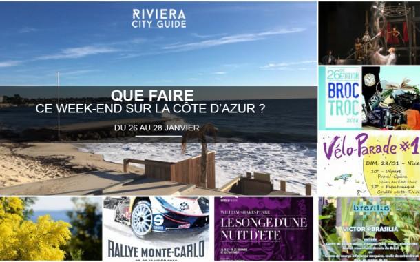 Que faire sur la Côte d'Azur ce week-end ? Du 26 au 28 janvier 2018