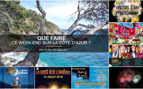 Que faire sur la Côte d'Azur ce week-end ? Du 13 au 15 juillet 2018