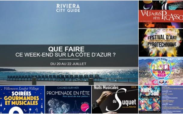 Que faire sur la Côte d'Azur ce week-end ? Du 20 au 22 juillet 2018