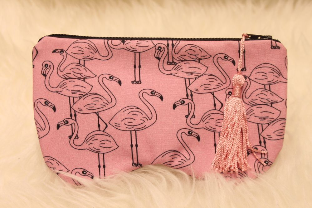 etui flamant rose