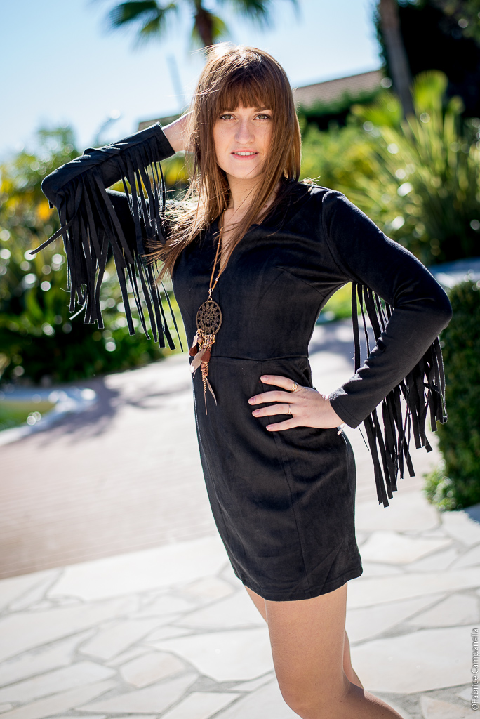 Robe Suedine noire
