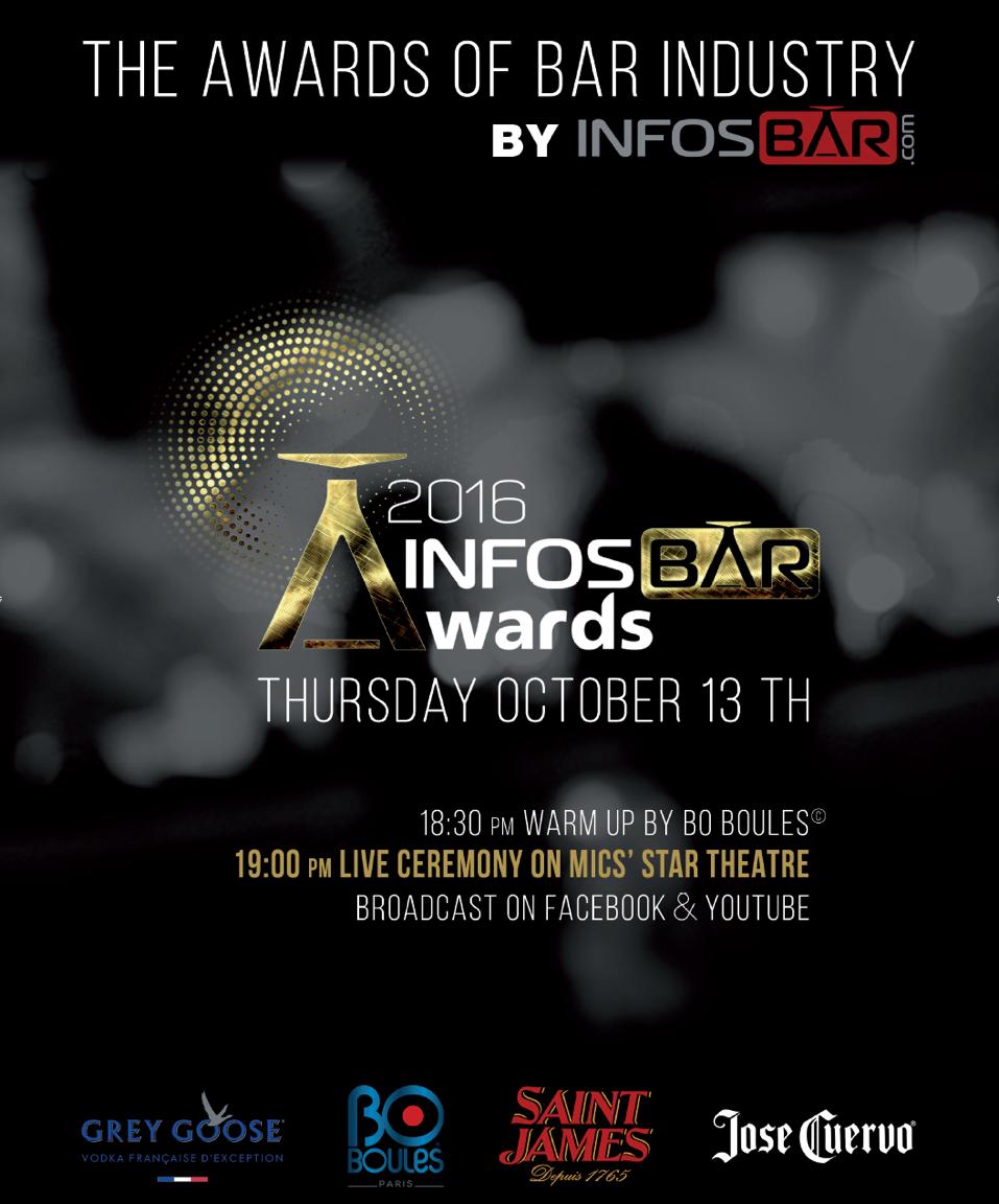 Cérémonie infosbar awards