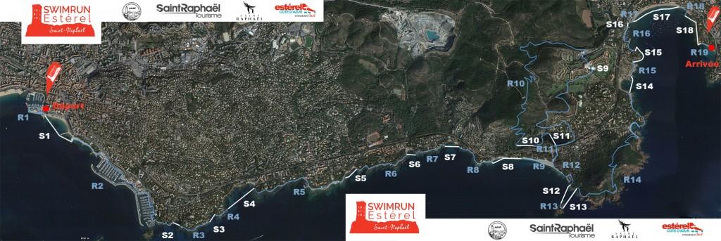 parcours swimrun esterel Agthos