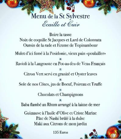 menu 31 decembre bistrot du port