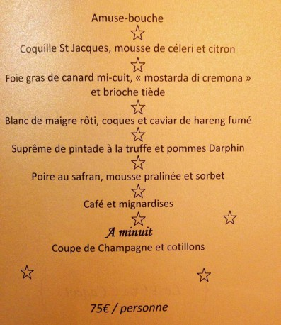 menu petit cageot antibes