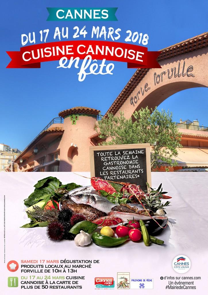 affiche cuisine cannoise 2018