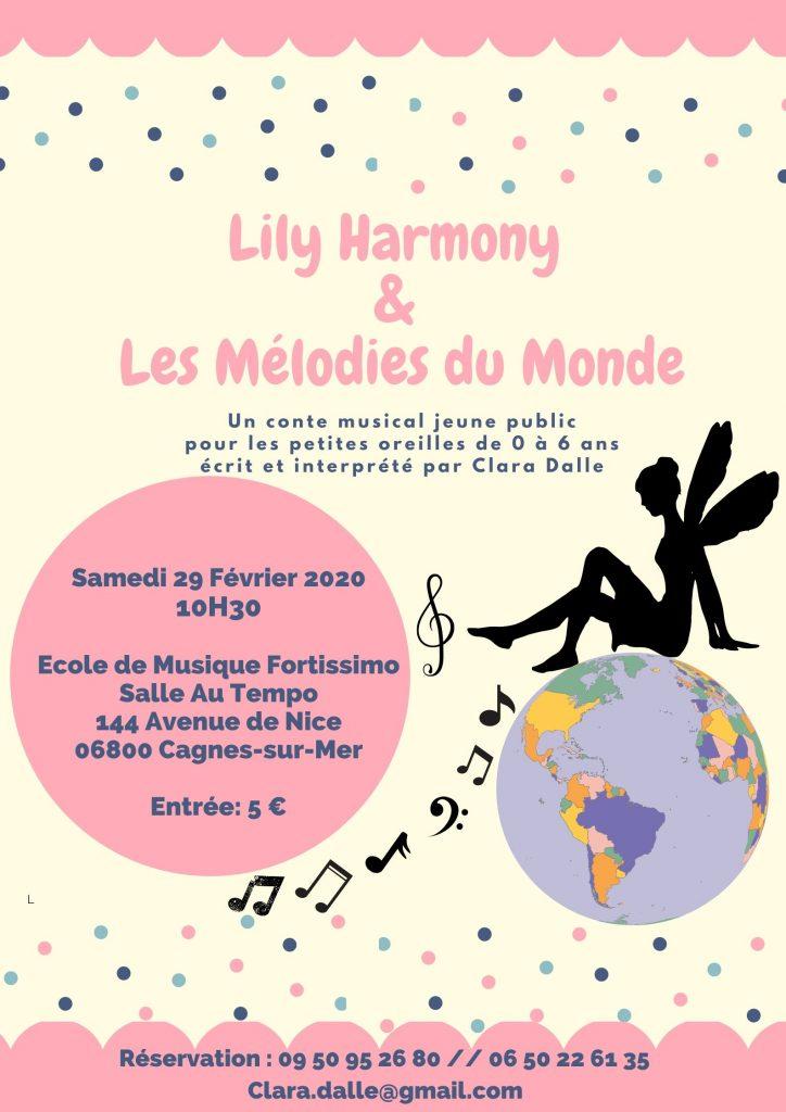 Affiche Lily Harmony & les mélodies du monde